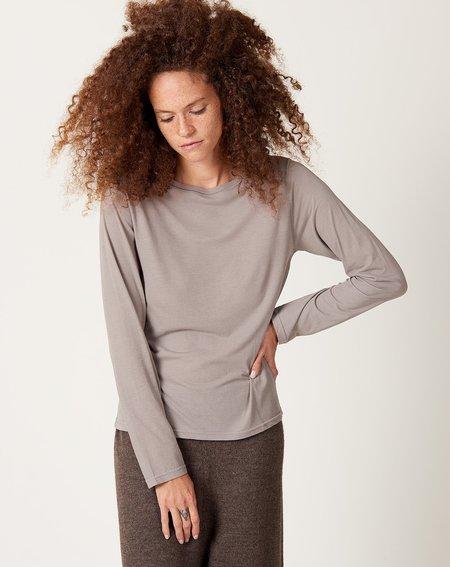 ICHI ANTIQUITES Cotton Tencel Pullover - Grey