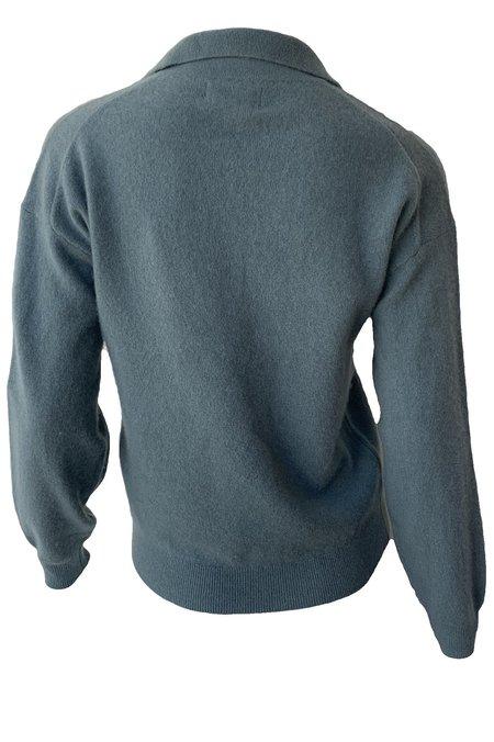 Naadam Long Sleeve V Neck Polo Sweater - Mist