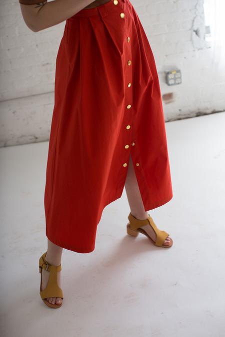 Creatures of Comfort Valentina Skirt in Poppy
