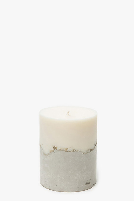 "NOVEL STUDIOS Concrete Palmarosa 3"" Candle"
