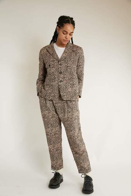 Engineered Garments WWP Pant - Beige CP Leopard Jacquard