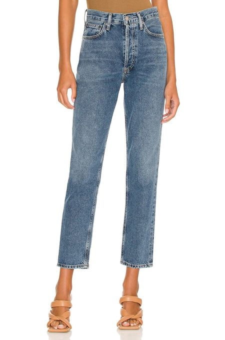 Fen High Rise Relaxed Tapered Jean in Highway-Blue