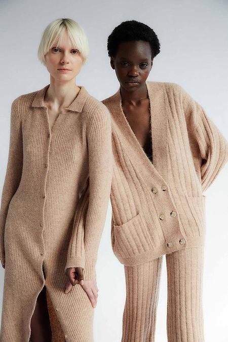 Tach Clothing Amira Knit Cardigan - Tan