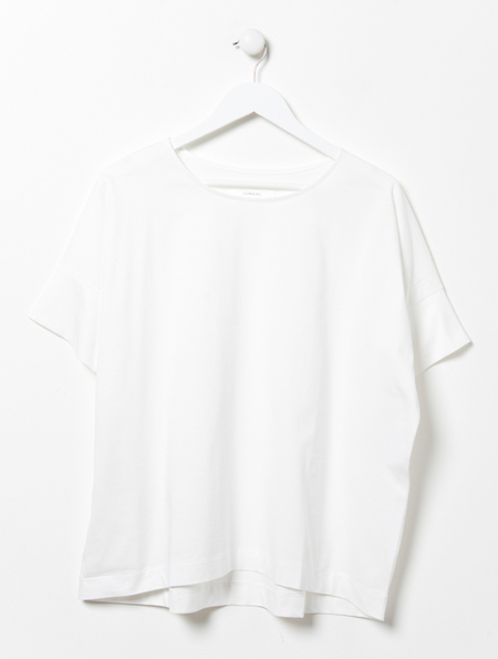 Lemaire Loose White Cotton Tee
