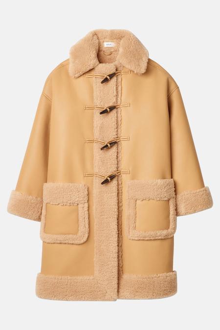 A.L.C. Brunswick Vegan Leather Coat - Tan