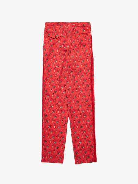 [Pre-Loved]Comme Des Garcons Homme Plus Male Red Rose Printed Suit  Pants