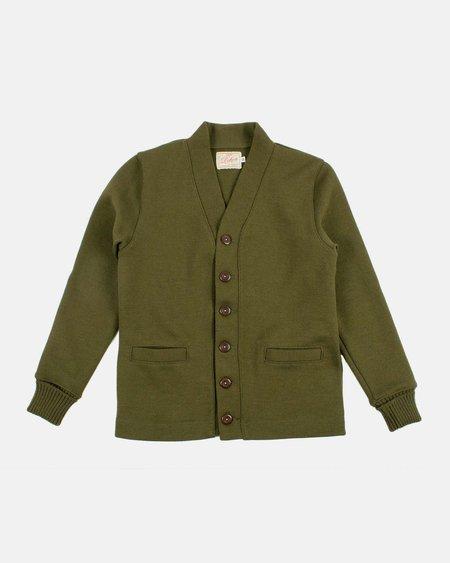 Dehen Wool  Classic Cardigan Sweater - Loden