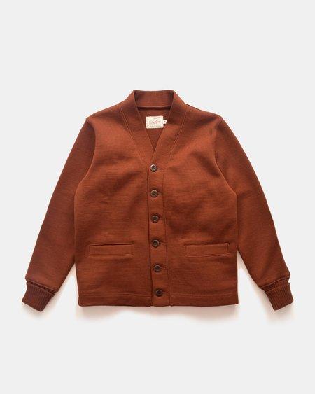Dehen Wool Classic Cardigan Sweater - Tobacco