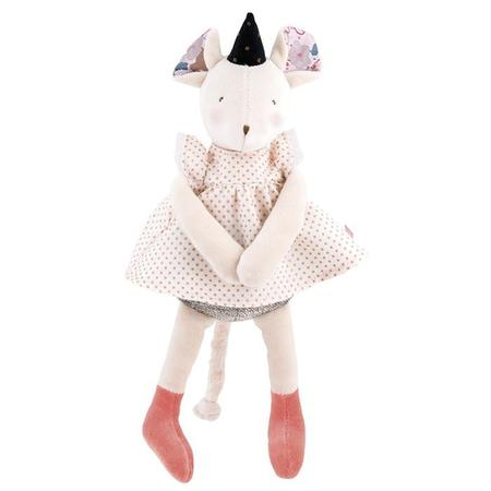 Kids Moulin Roty Il Etait Une Fois Musical Mimi The Mouse Toy - Pink