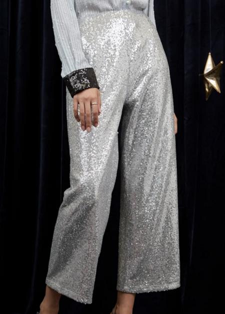 Sister Jane Equinox Sequin Culottes - Silver