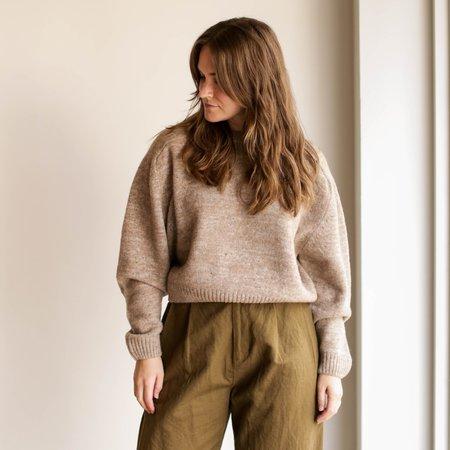Micaela Greg Speckle Boucle Sweater - Camel