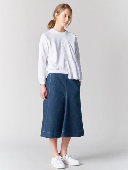 Lemaire Flared Denim Skirt