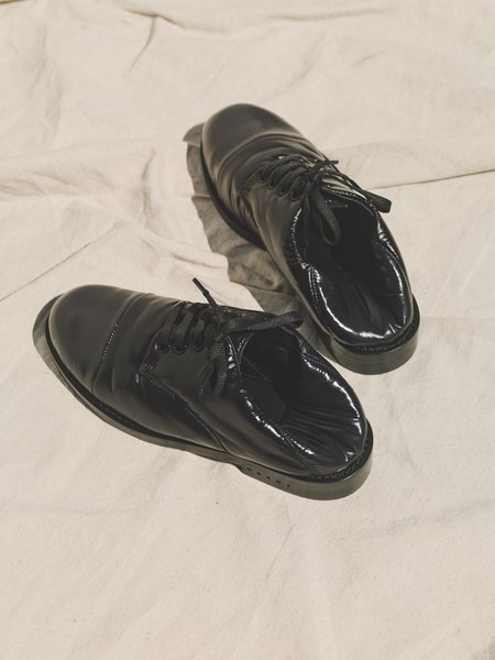 Marni xPadded Nylon Cap Toe Lace Up Shoe - Black