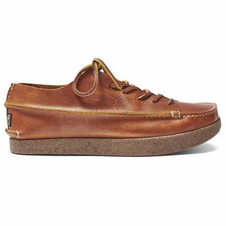 YOGI Finn Leather Shoe On Negative Heel - Apricot