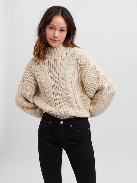 CHANCE & FATE Balloon Sleeve Knit Sweater