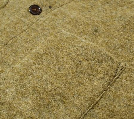 Universal Works Cardigan -  Light Olive Wool Fleece
