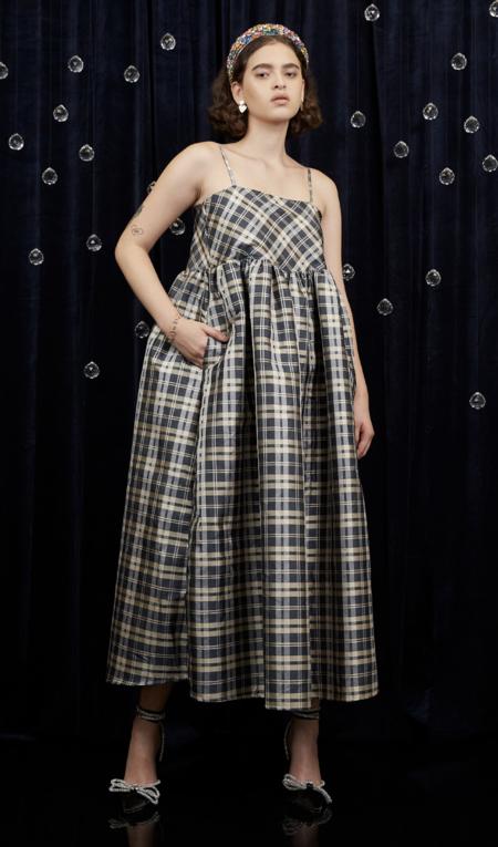 Sister Jane Cosmic Check Midi Dress - Willow Bough