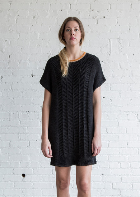 Raquel Allegra Cable Tunic Black