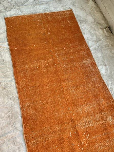 Vintage Over Dyed Runner - tangerine orange