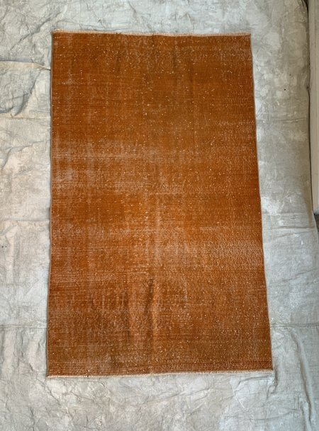 Vintage Over Dyed Vintage Wool Rug - Tangerine Orange