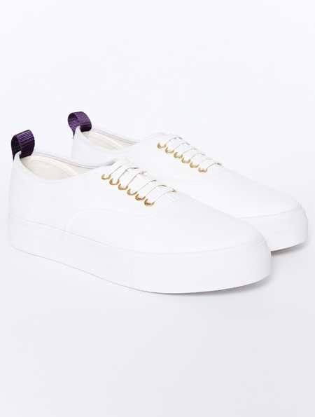 Eytys Mother White Canvas Sneakers