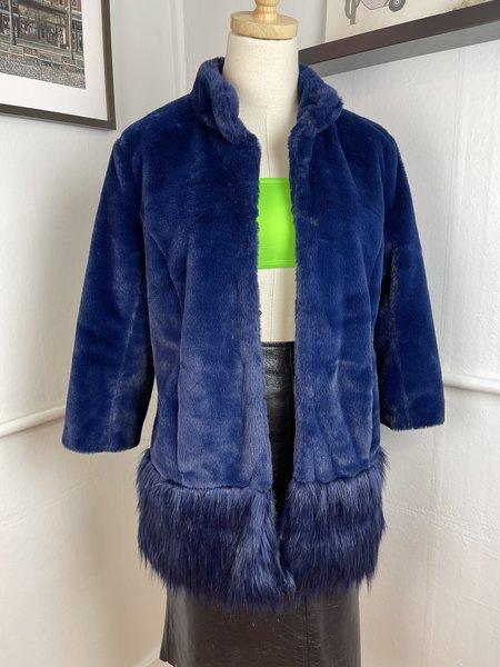 [PRE-LOVED] Tyler Boe Faux Fur Blue Jacket -Blue