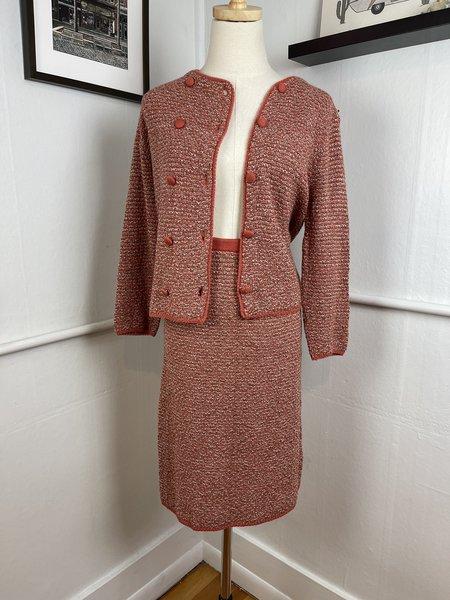 Vintage Knit Skirt Set