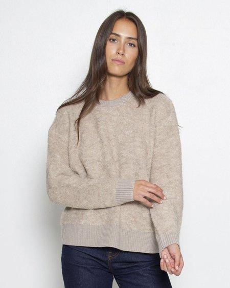 C.T. PLAGE Alpaca Knit Pullover - Beige