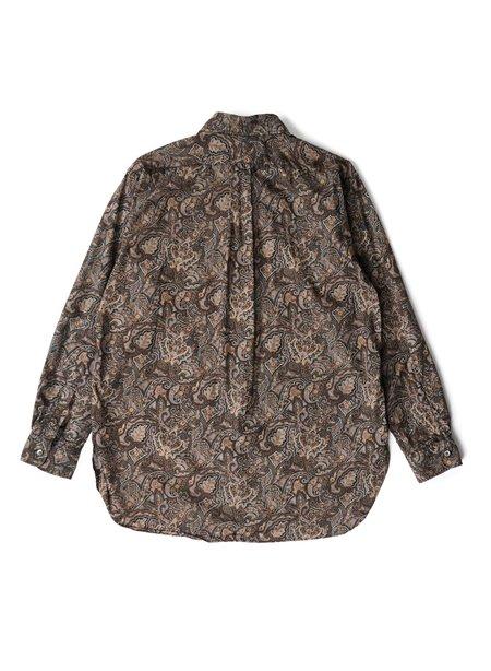 Engineered Garments Cotton 19 Century Shirt - Black/Brown Paisley Print