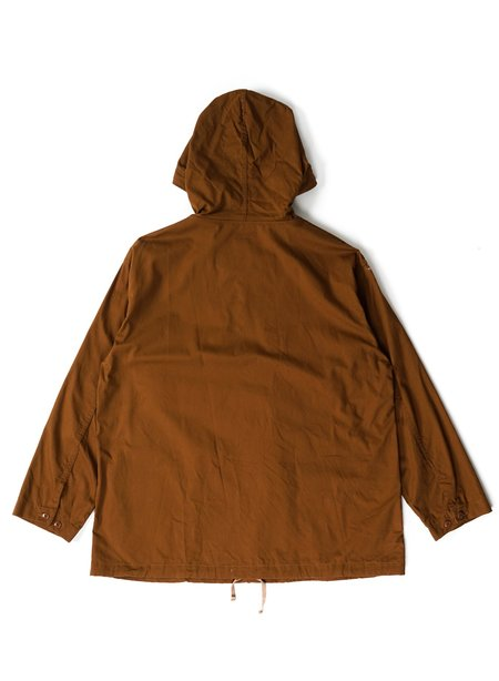 Engineered Garments Cotton Micro Sanded Twill Cagoule Shirt - Brown