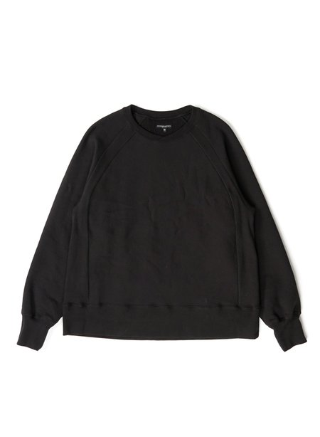 Engineered Garments Cotton Heavy Fleece Raglan Crew - Black