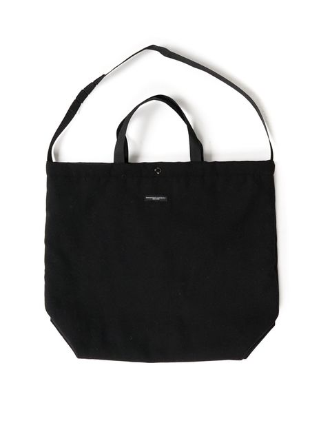 Engineered Garments Polyester Fake Melton Carry All Tote - Black