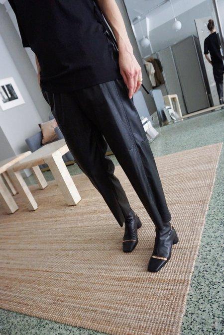 MM6 Maison Margiela CUT-OUT ANKLE BOOTS - Black