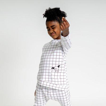 unisex Bash + Sass Asymmetric Pullover - Black/White Grid