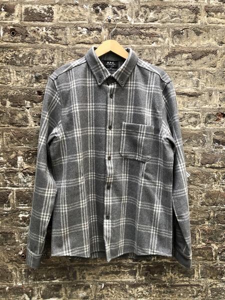 A.P.C. Checked Overshirt - Grey