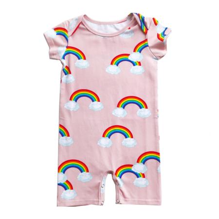 Kids Romey Loves Lulu Short Romper - Rainbow
