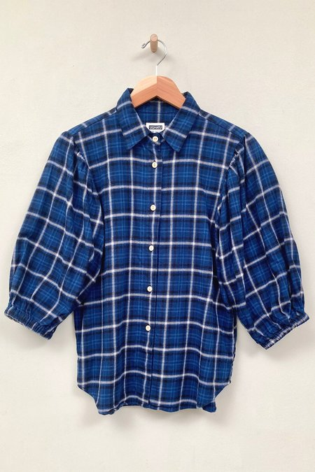 Uqnatu Bloom Shirt - Blue Plaid