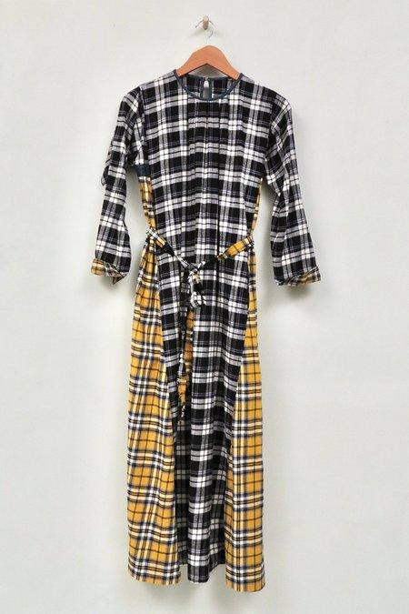 UQNATU Nomad Dress - Mixed Plaid