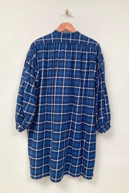 UQNATU Popover Tunic - Blue Plaid