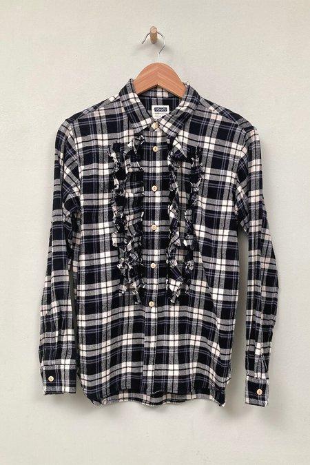UQNATU Tulip Tuxedo Shirt - Black Plaid