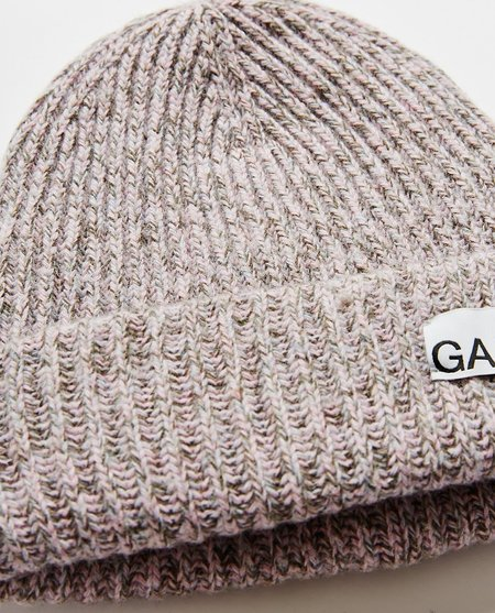 Ganni Recycled Wool Beanie - Multi