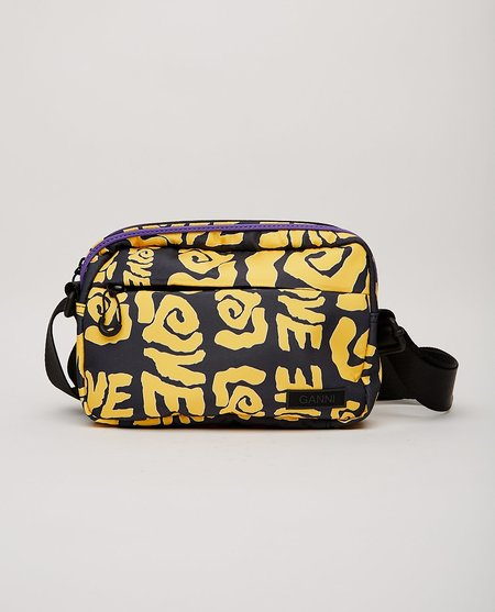 Ganni Seasonal Recycled Tech Bag - yellow