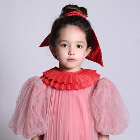 Kids  Tia Cibani Ruth Pleated Collar - Big Red