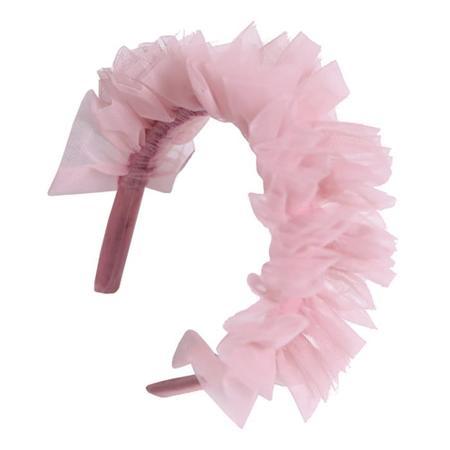Kids  Tia Cibani Stella Flouce Tulle Hairband - Gumball Pink