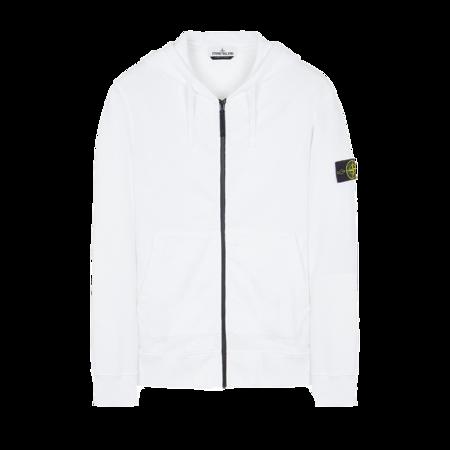 Stone Island Brushed Cotton Fleece Men MO751564220-V0001 sweater - White