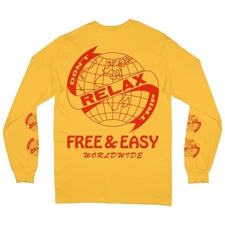 Relax Worldwide Long Sleeve Tee-Yellow