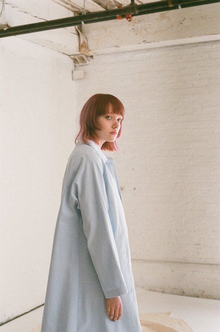 Horses Atelier Trench in Pale Blue