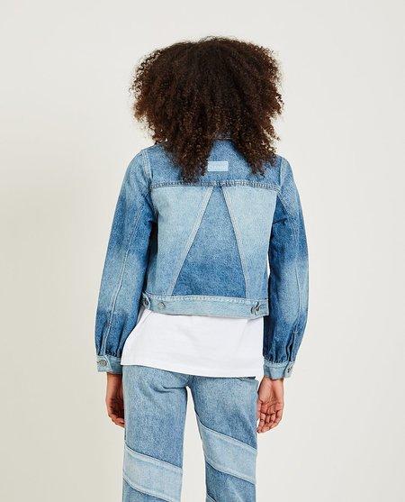 Ganni Two-Tone Denim Jacket - Medium