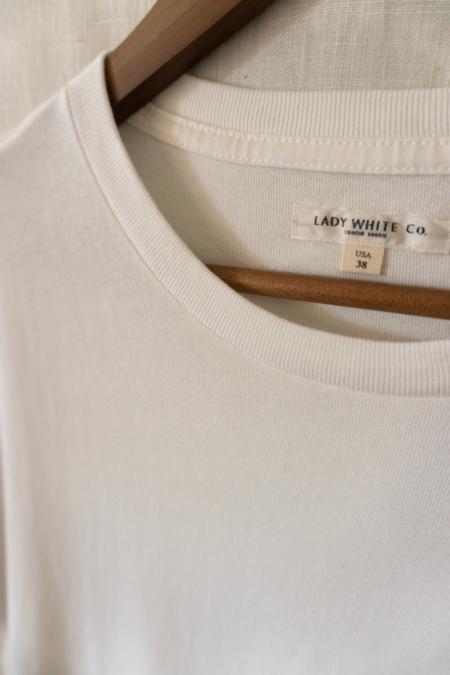 Lady White Co. Lite Jersey T-Shirt - White