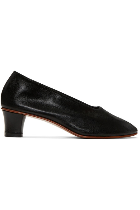 Martiniano BLACK LEATHER HIGH GLOVE SHOE